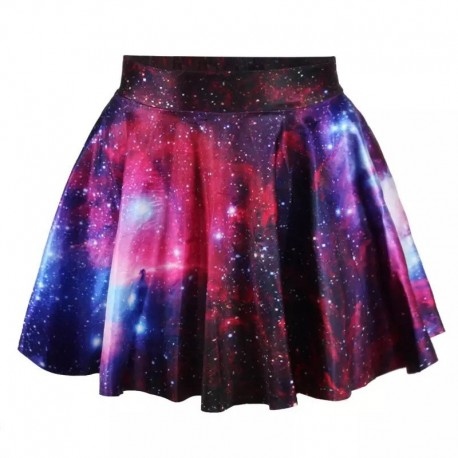 Юбка с космосом фиолетовая