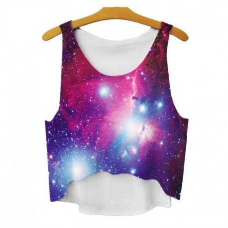 Топ с фиолетовым космосом