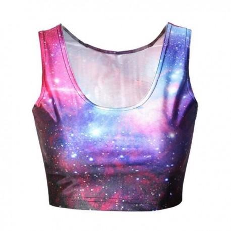 Топ с космосом фиолетовый