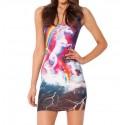 Платье с рисунком Единорог