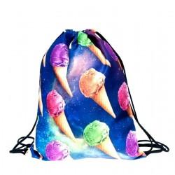Сумка-мешок для обуви космос мороженое