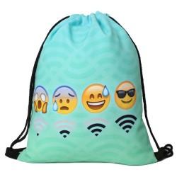 "Рюкзак-мешок со смайлами ""Wi-Fi"""