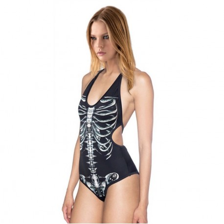 Слитный купальник Скелет