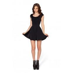 Короткое бархатное платье