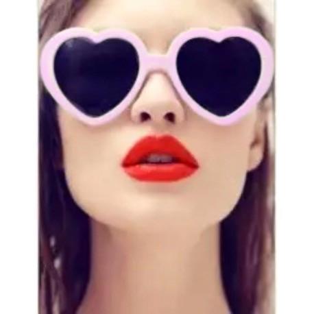 Очки сердечки розовые