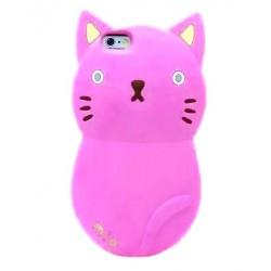 Чехол розовый кот для iPhone 5, 5s