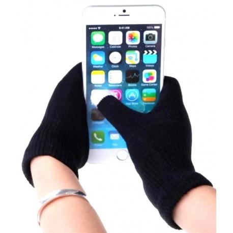 Перчатки для телефона черные