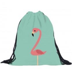 Мешок для обуви с рисунком фламинго