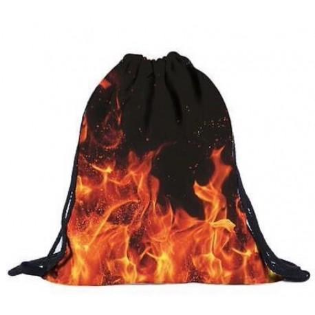 Мешок для обуви с рисунком огня