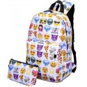 Школьный рюкзак со смайлами + кошелек
