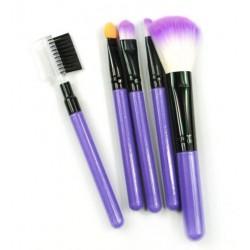 Кисти для макияжа фиолетовые 5 шт