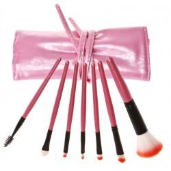Кисти для макияжа в футляре 7 шт розовый жемчуг
