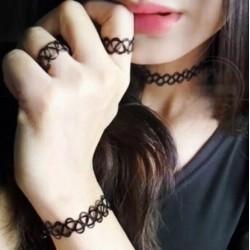 Набор чокеров 3 шт: ожерелье, браслет, кольцо