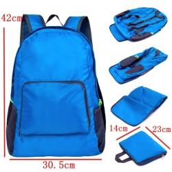 Складной рюкзак голубой