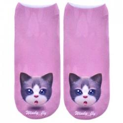 Носки с котиками фиолетовые