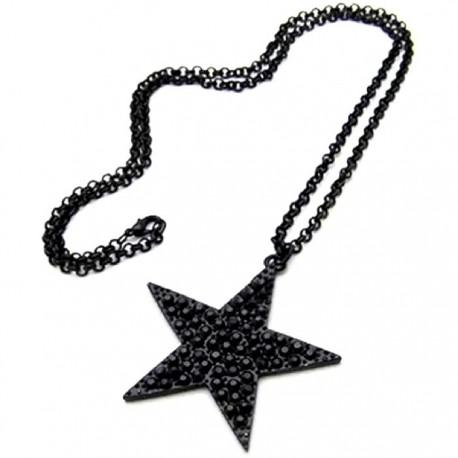 Кулон звезда 5,5 см на цепочке