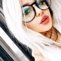 Черные прозрачные очки