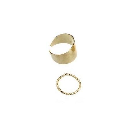 Комплект колец 2 шт золотистый металлик