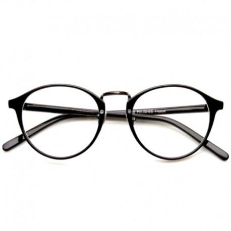 Прозрачные очки черные