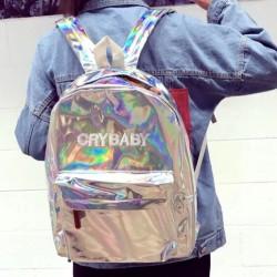 Голографический рюкзак Crybaby