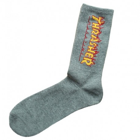 Носки Thrasher x Huf серые