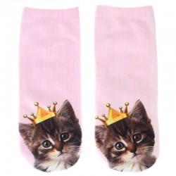 Розовые носки с котятами