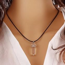 Горный хрусталь - кулон кристалл 4 см на шнуре