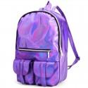 Голографический рюкзак фиолетовый