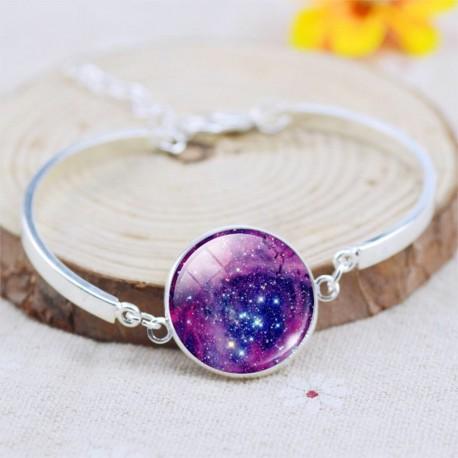 Браслет фиолетовый космос
