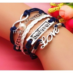 Браслет темно-синий Love