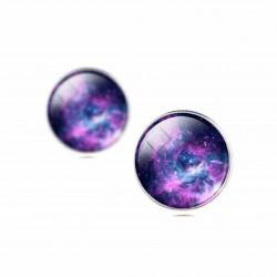 Серьги фиолетовая галактика