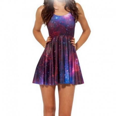 Платье с фиолетовым космосом