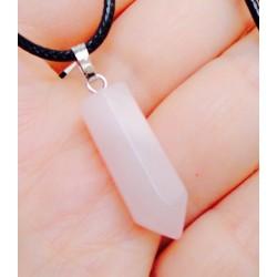 Розовый кварц - кулон кристалл 3,5 см