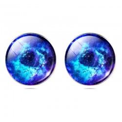 Серьги голубая галактика