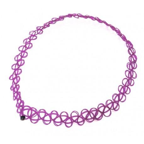 Чокер фиолетовый