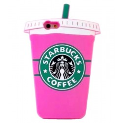 Чехол Starbucks для iPhone розовый