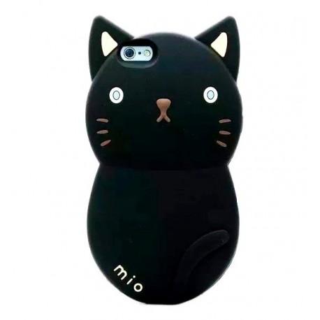 Чехол черный котик для iPhone