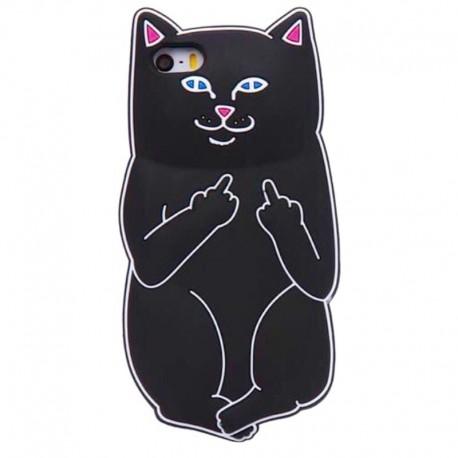 Чехол Кот с факом для iPhone