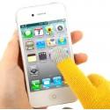 Перчатки для телефона желтые