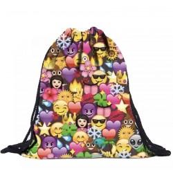 Рюкзак-мешок с рисунком смайлов