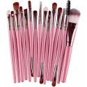 Кисти для макияжа розовый шоколад 15 шт