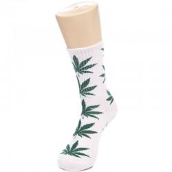 Белые носки с коноплей