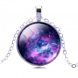 Кулон галактика 3,7 см на цепочке
