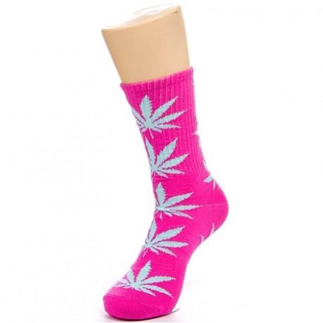 Носки с коноплей розовые