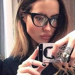Прозрачные черные очки