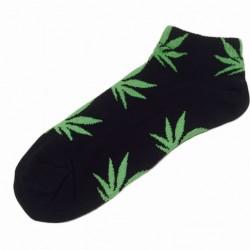 Черные носки с коноплей