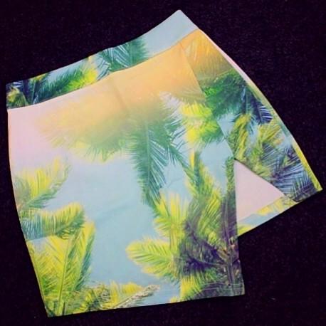 Юбка с пальмами