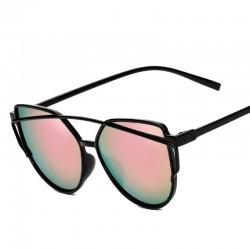 Черные зеркальные очки