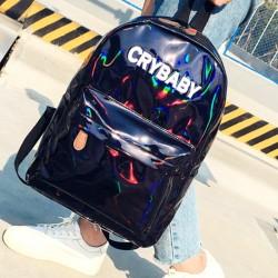 Голографический рюкзак черный Crybaby