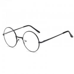 Круглые очки прозрачные черные
